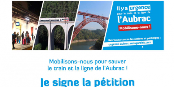 PETITION POUR LA DEFENSE DU TRAIN DE L'AUBRAC